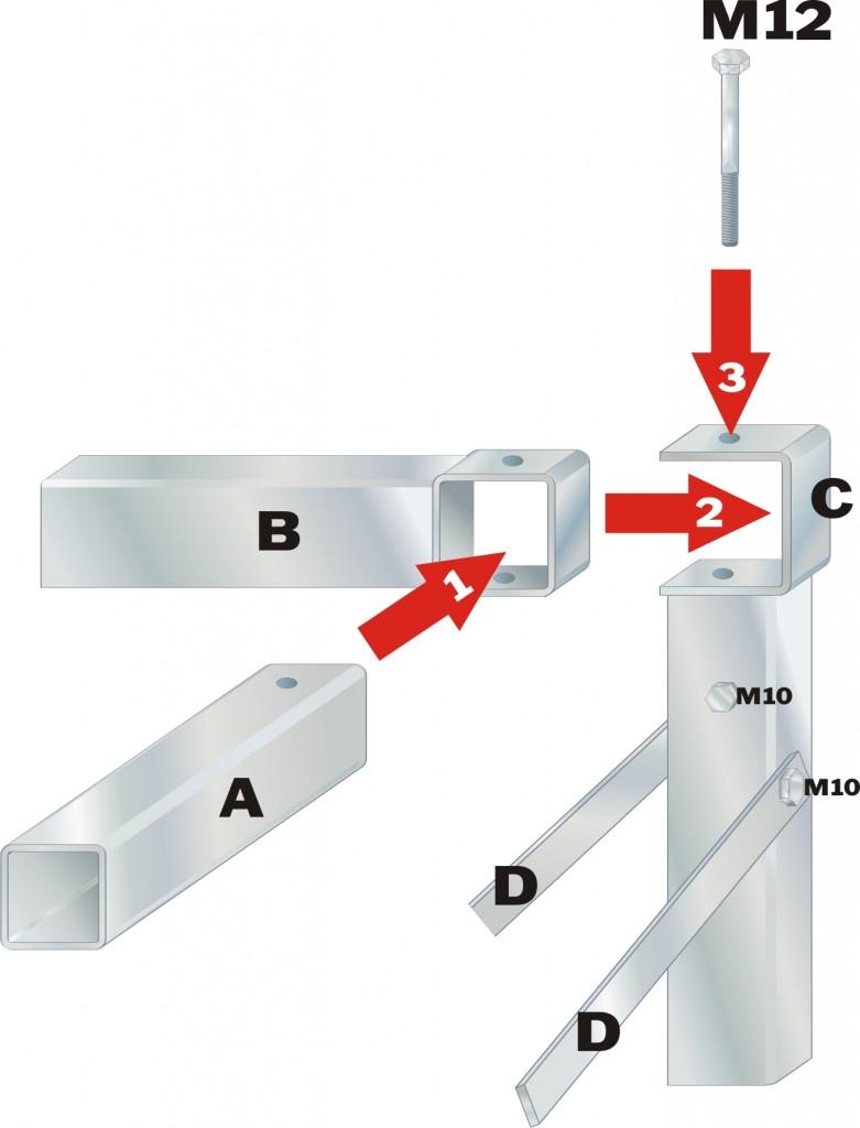 SaSi-Gestell-Rahmenteile